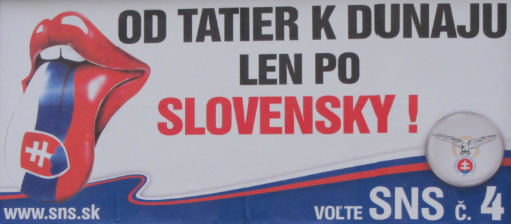 Od Tatr do Dunaju tylko po słowacku (Słowacka Partia Narodowa)