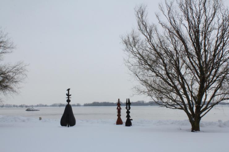 Widok na Dunaj z Muzeum Sztuki Danubiana