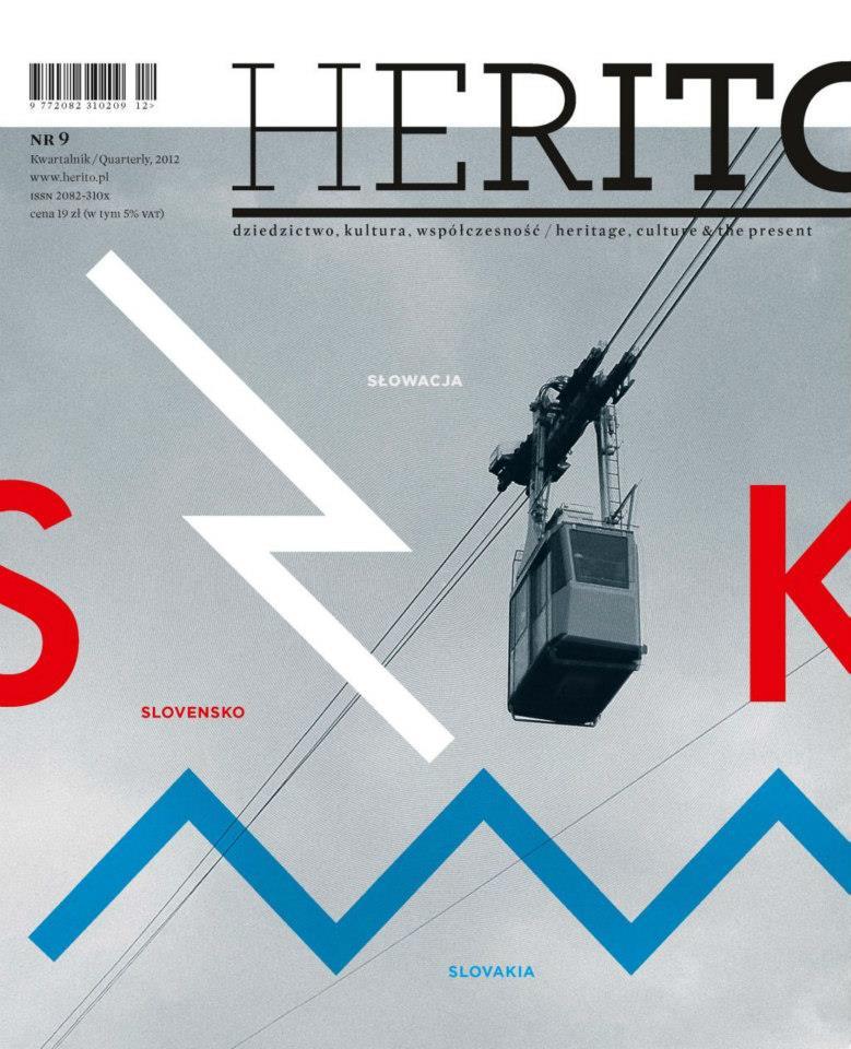 Kwartalnik Herito. Okładka nr 9 (4/2012) poświęconego Słowacji.